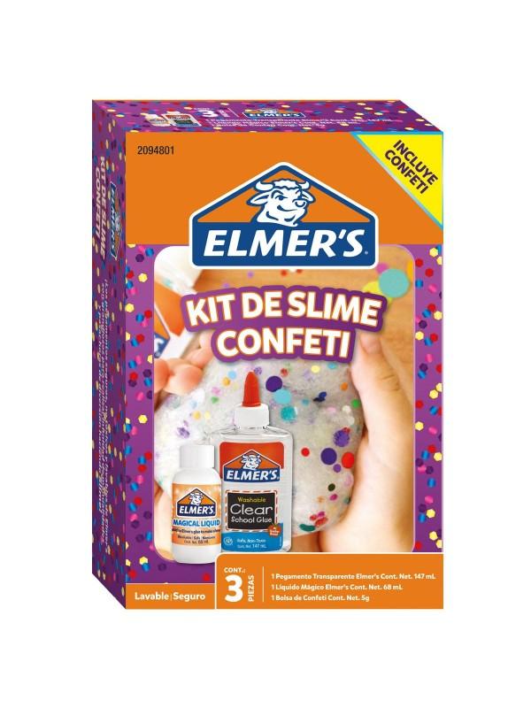 KIT SLIME CONFETI x3 PIEZAS ELMERS