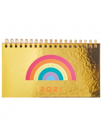 AGENDA POCKET CON ESPIRAL GOLDEN RAINBOW