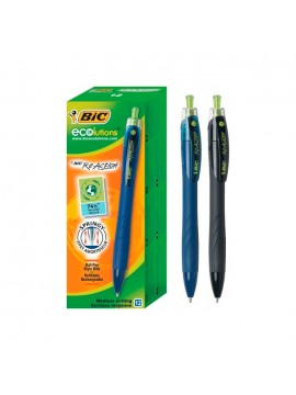 x12 BOLIGRAFO BIC REACTION ECO NEGRO
