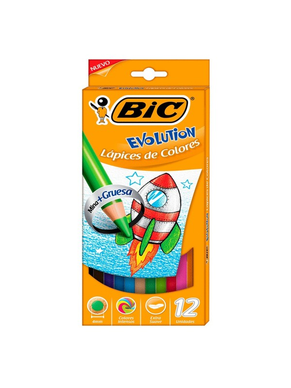 LAPIZ BIC EVOLUTION GRUESO 4mm X12l