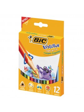 LAPIZ BIC GIGANTE TRIANGULAR x12 LARGOS