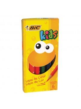 LAPIZ BIC KIDS COLOR x6 CORTOS