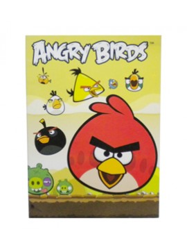 CUADERNO TAPA CARTON ANGRY BIRDS x48R