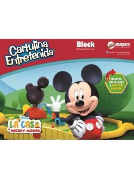 BLOCK CARTULINA ENTRETENIDA MICKEY x20 HOJAS