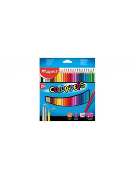 LAPICES DE COLOR MAPED x24 LARGOS