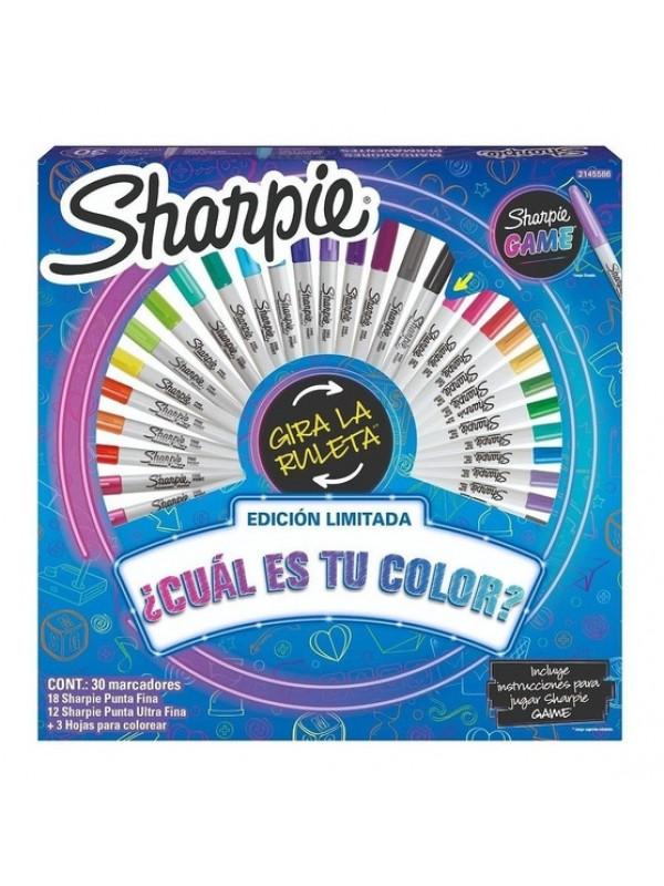 RUEDA SHARPIE GAME SPINNER x30 MARCADORES